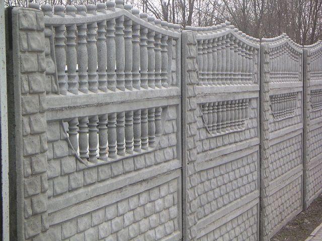 """Декоративный наборный бетонный забор с """"ажурной"""" верхней секцией"""