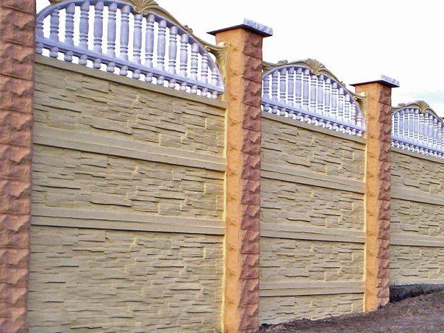 Бетонный забор - это вовсе не только {amp}quot;скучные{amp}quot; серые стенки