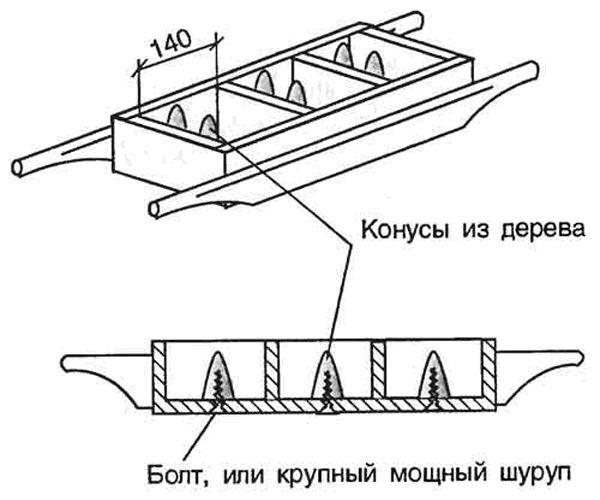 Вариант формы для шлакоблока