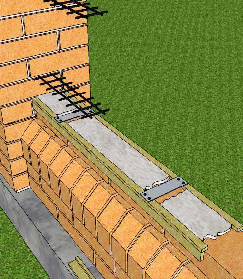 Выкладка цемента между деревянных планок (для аккуратности)