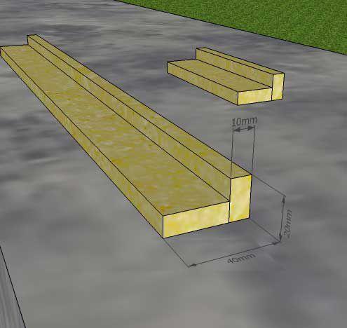 Делаем две деревянных рейки, скрученных саморезами