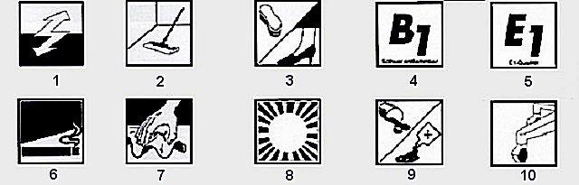 Никогда нельзя игнорировать дополнительную символьную информацию на упаковке ламината