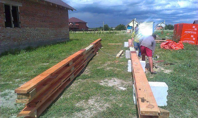 Изготовление нижних поясов стропильных ферм
