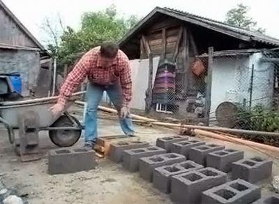 Изготовление шлакоблоков