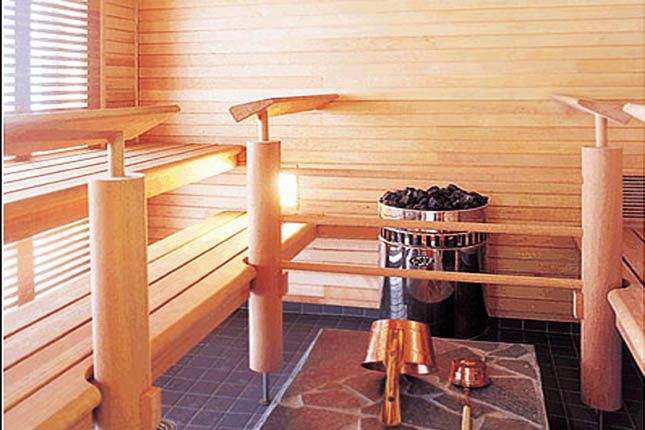 Кафельный пол в сауне