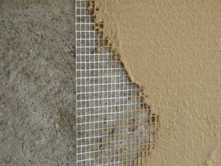 Оштукатуривание по армирующей сетке