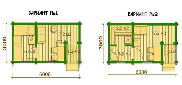 Проект бани 6х3