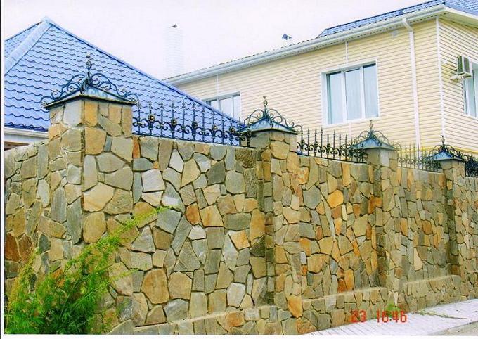 Забор из камня своими руками - пошаговая инструкция!