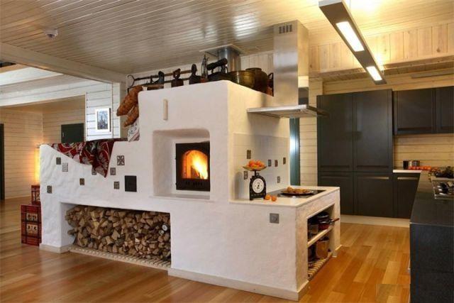 Как построить печь в деревенском доме?