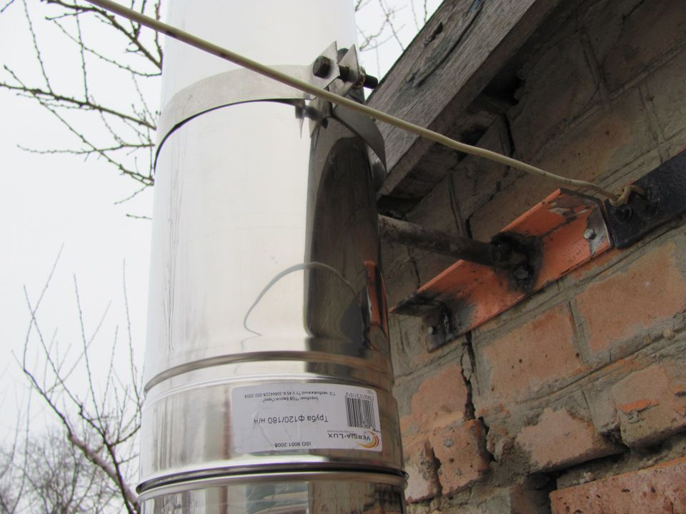 Сборка дымохода газового котла