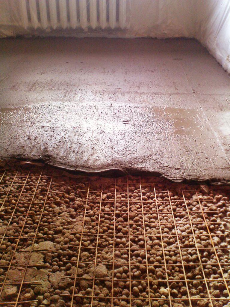 стяжка керамзит бетон