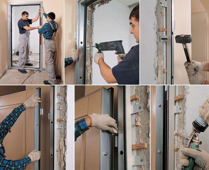 Технология установки входной металлической двери