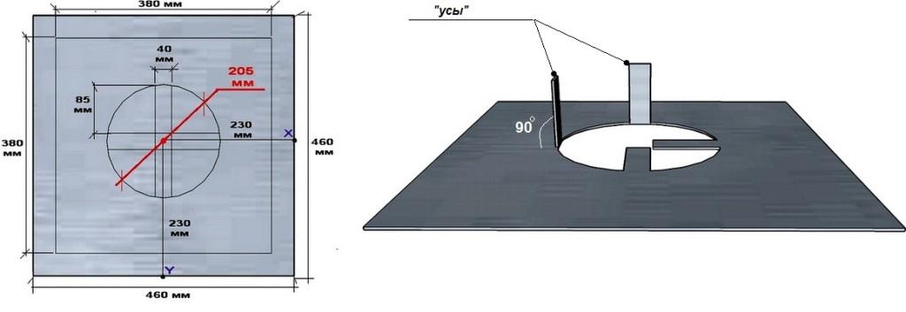 Устройство дна короба потолочно-проходного устройства