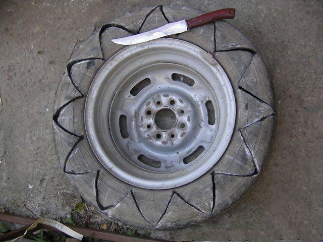 Разметка и раскрой старого колеса