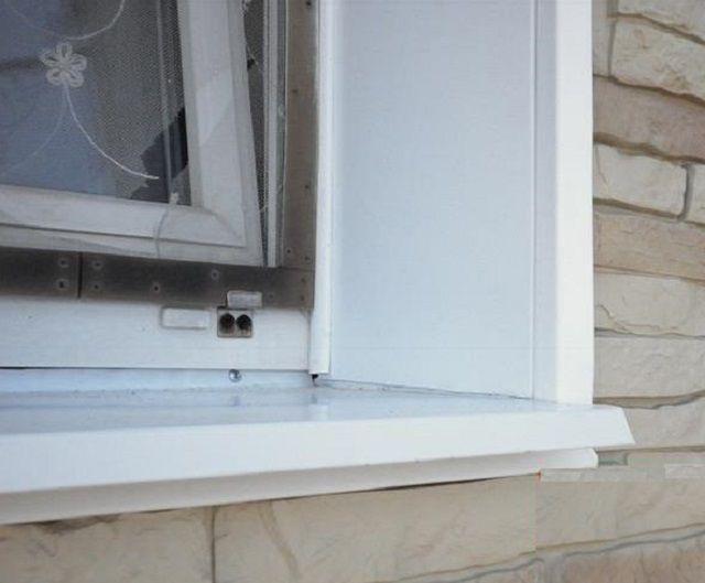 Отделка окна с широкими откосами