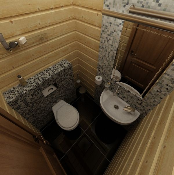 Туалет в бане