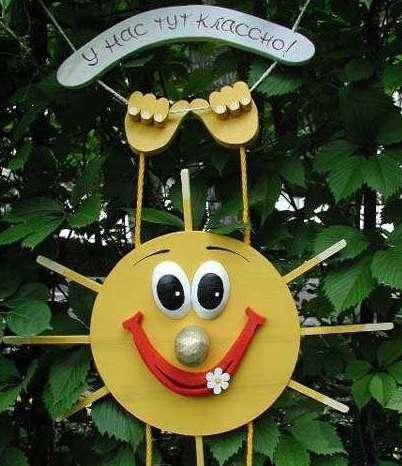 Декор детской площадки на даче