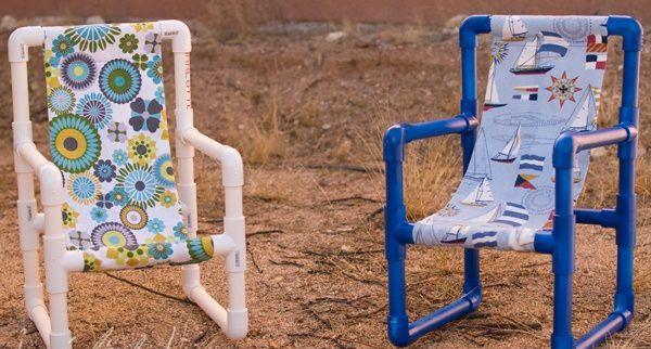 Еще один вариант ярких детских садовых стульчиков