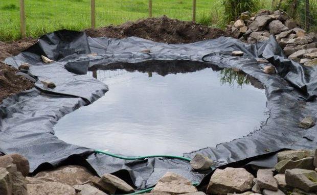 Заполняем пруд водой