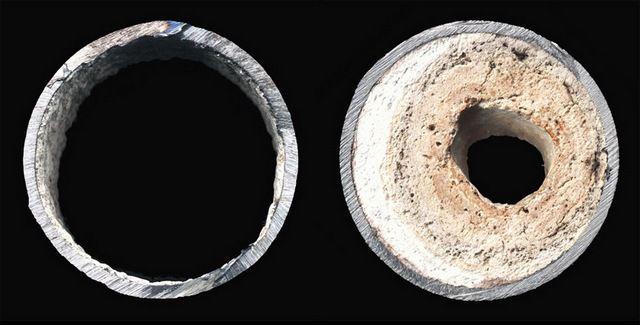 Традиционный {amp}quot;бич{amp}quot; систем отопления - зарастание труб накипью.