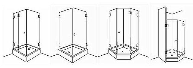 Различные формы прямолинейных поддонов