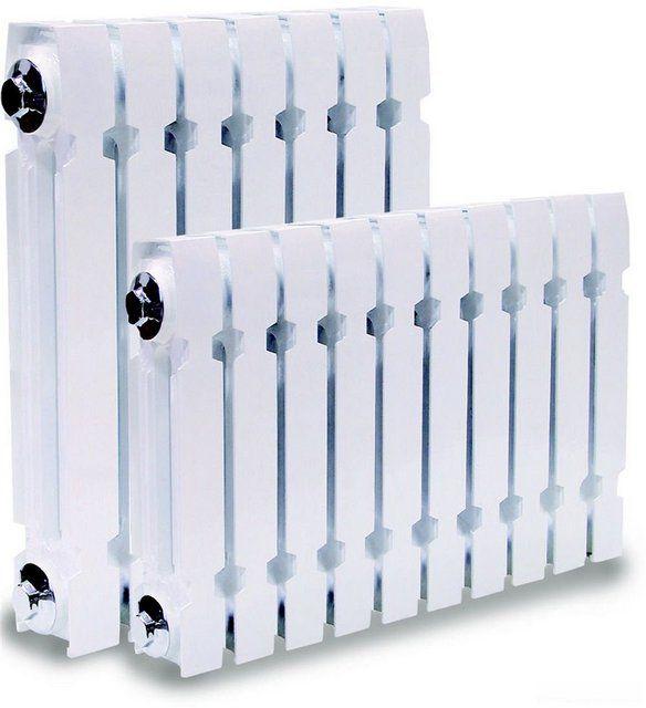 Современные чугунные радиаторы могут, с некоторыми оговорками, применяться в системах с электродными котлами