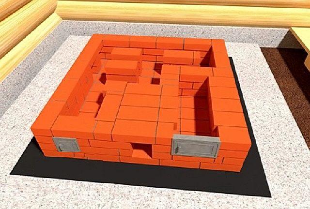 4 ряд - закрывается свод подового пространства