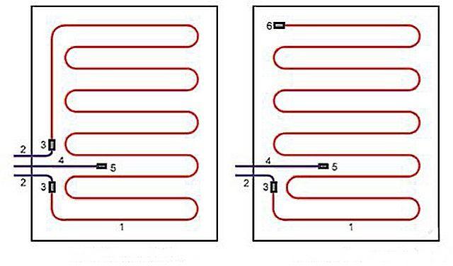 В укладке, конечно, проще двужильный кабель