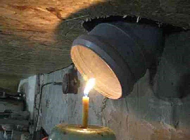 Простой и эффективный способ просушки - с помощью свечи