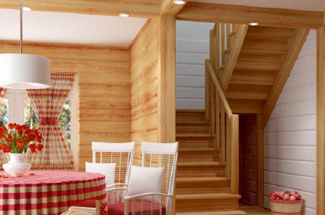 Компактная двухмаршевая лестница - удобна при недостатке пространства