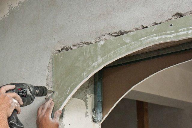 Закрепление арочных деталей на каркас