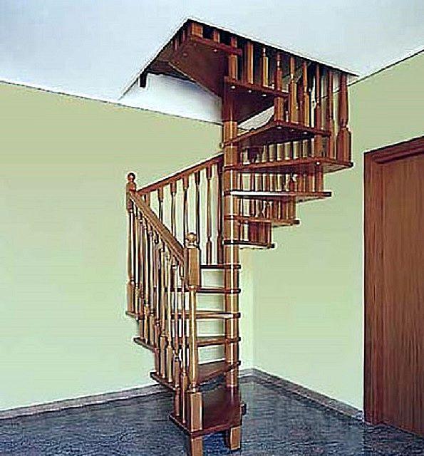 Часть ступеней может крепиться к стене здания