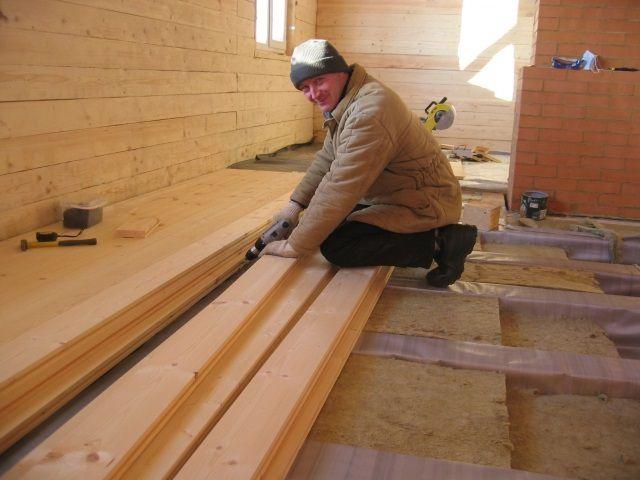 Настил деревянного пола