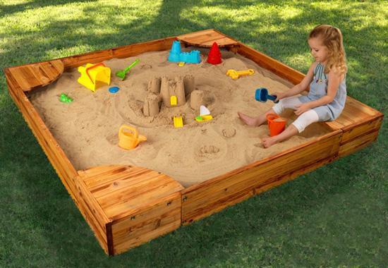 Детские песочницы для дачи своими руками чертежи