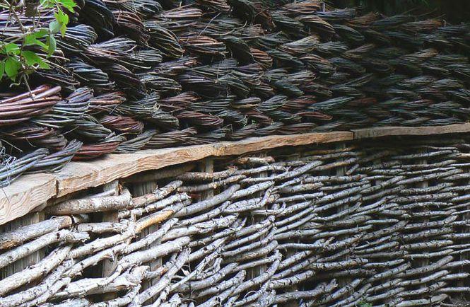 Заборчик из лозы