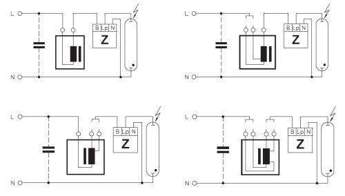 Подключение лампы с электромагнитным балластом