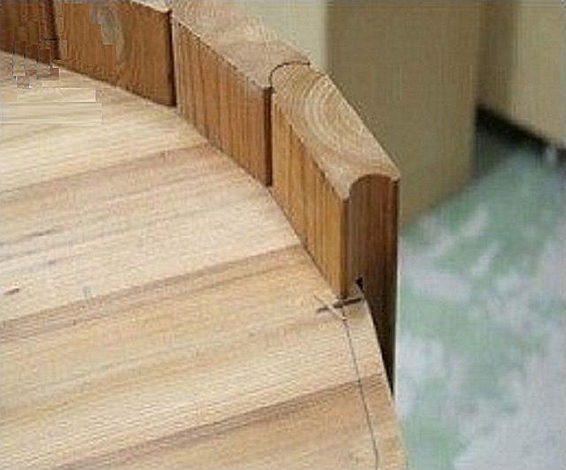 Последовательный монтаж стенок купели