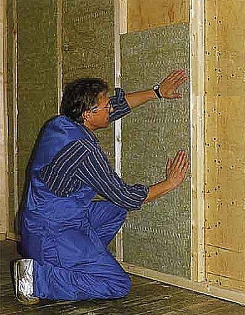 Утепление каркасных стенок минеральной ватой