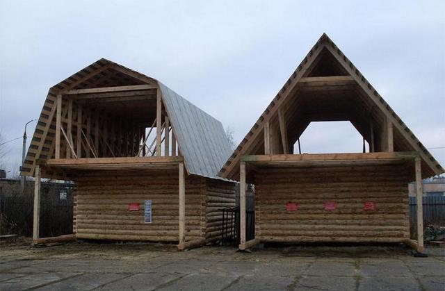 Для сравнения - крыша мансардного типа дает выигрыш по полезному пространству даже при меньшей высоте