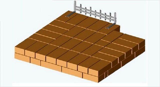 Второй ряд - установка каминной решетки