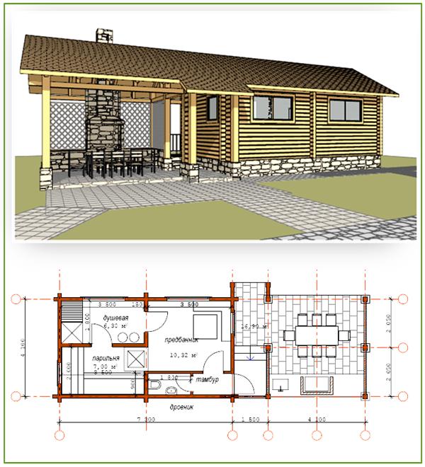 Проект сооружения,совмещённого с открытой кухней