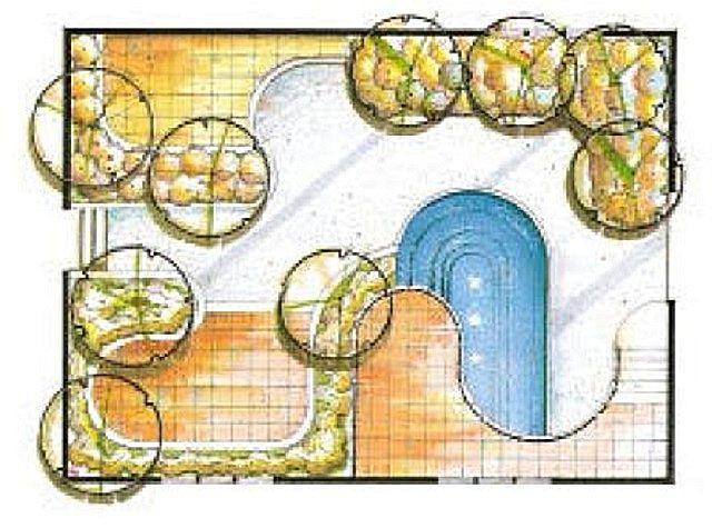 Мягкие формы планировки с опорой на дуги и касательные к ним