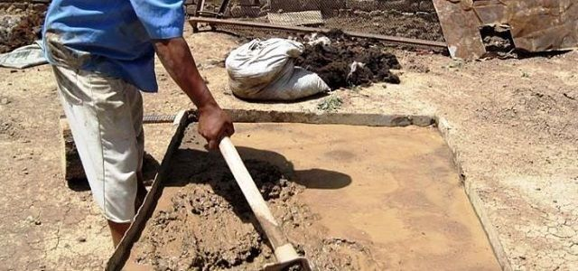 Подготовка и замачивание глины