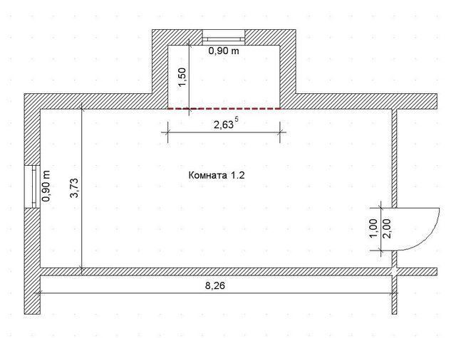 Немного усложним задачу - комната с нишей