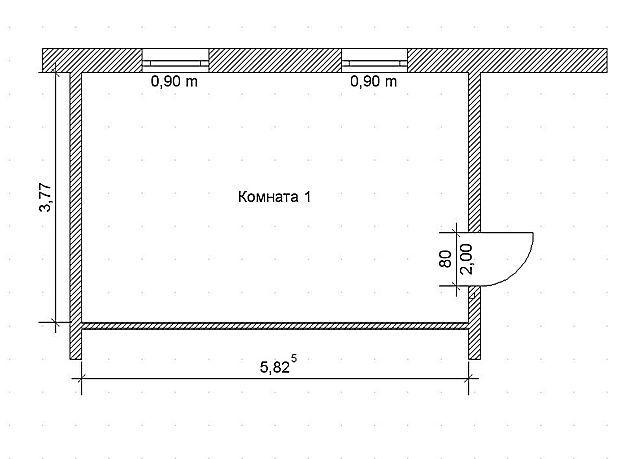 Определяем площадь прямоугольной комнаты