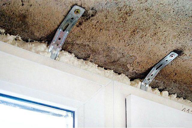Крепление кронштейнов к стене или потолку