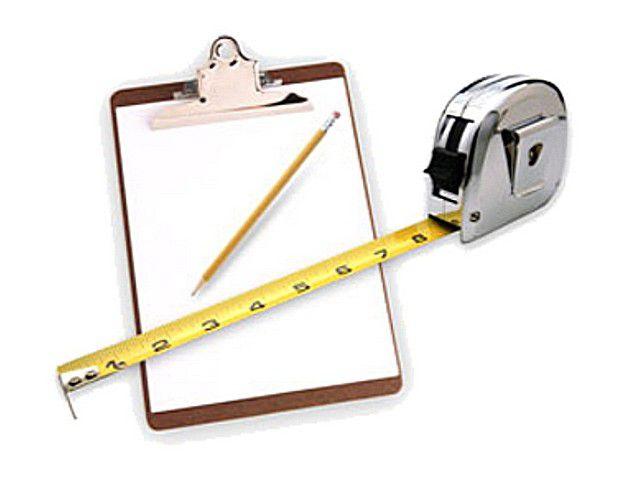 Базовый набор - обычная рулетка, блокнот, карандаш или маркер