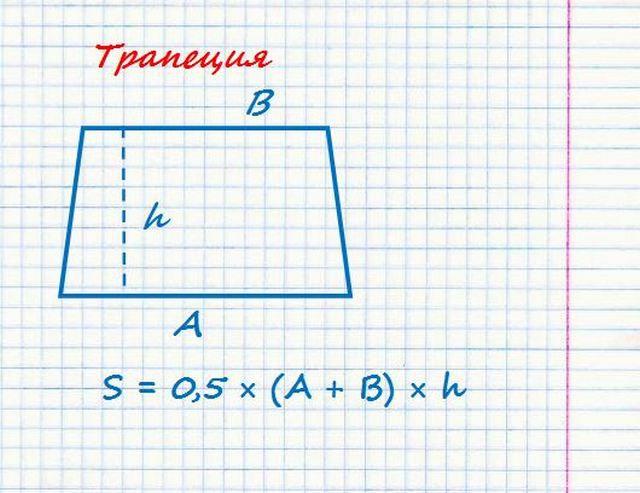 Площадь трапеции - необходимо знать три параметра