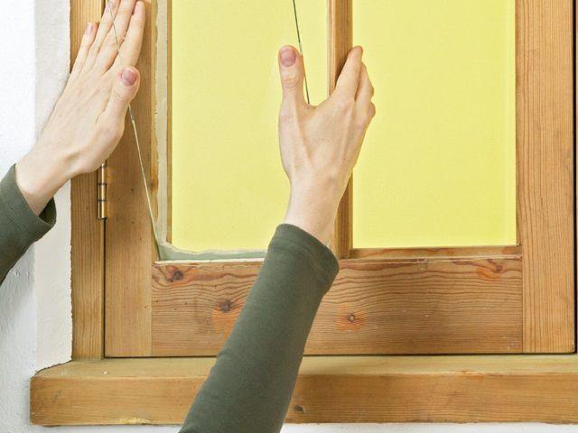 Установка стекла на замазку в рамный проем