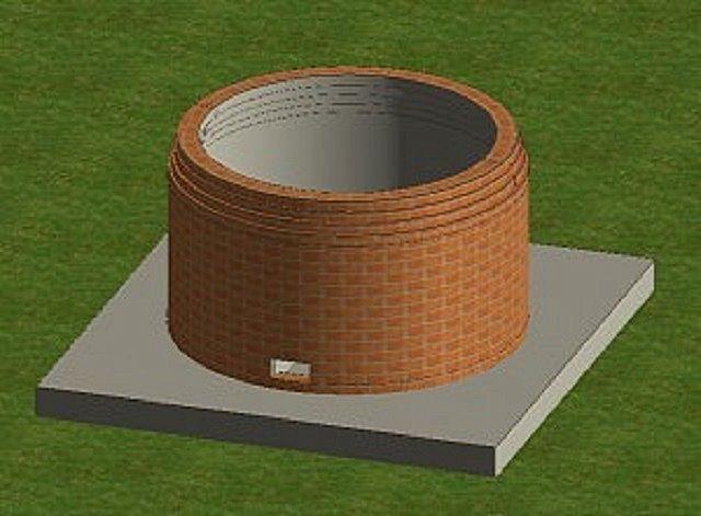Постепенное смещение кирпичей к центру для формирования купола
